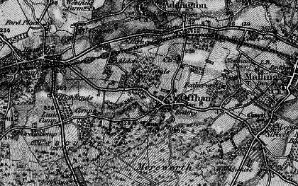 Old map of Aldon in 1895
