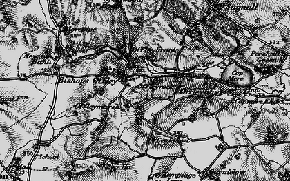 Old map of Lea Knowl in 1897