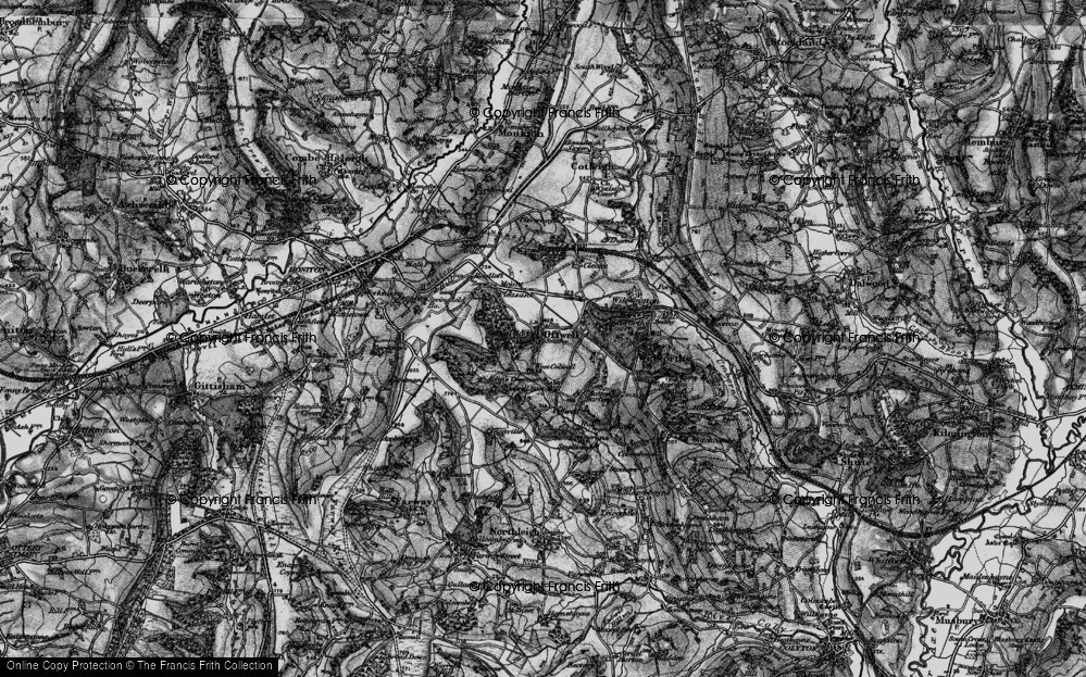 Old Map of Offwell, 1898 in 1898