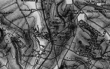 Old map of Ogbourne St George in 1898