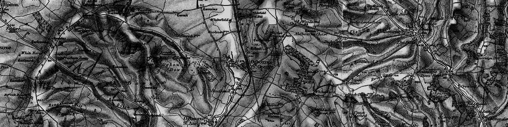 Old map of Yielding Copse in 1898