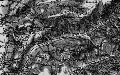 Old map of Alderhill Inclosure in 1895