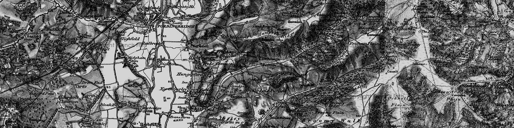 Old map of Abbots Well in 1895