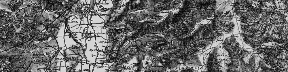 Old map of Alderhill Inclosure in 1895