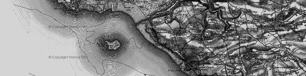 Old map of Ogmore-by-Sea in 1897