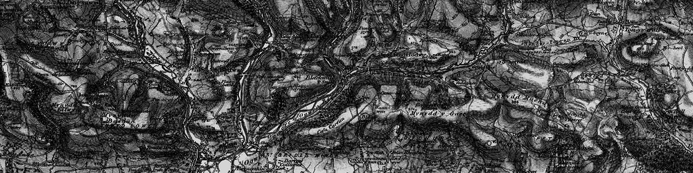 Old map of Ynyslas in 1897