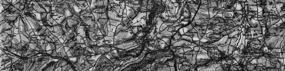 Old map of Okehampton in 1898