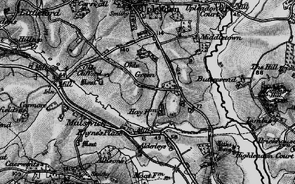 Old map of Alderleys, The in 1896