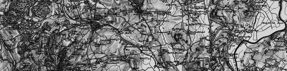 Old map of Alderleys, The in 1896