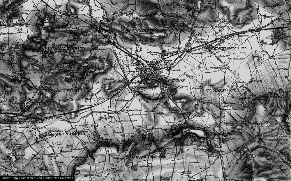 Old Map of Historic Map covering Westleaze in 1898