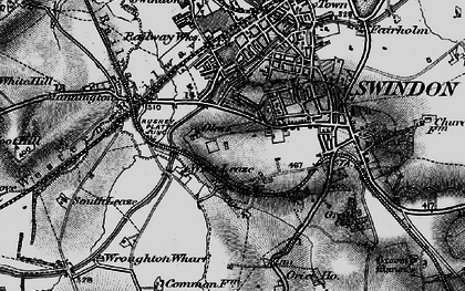 Old map of Westleaze in 1898