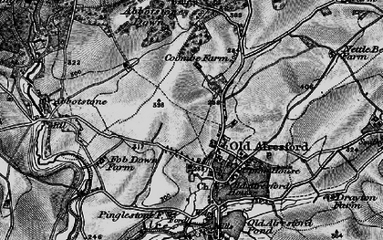 Old map of Abbotstone Woods in 1895