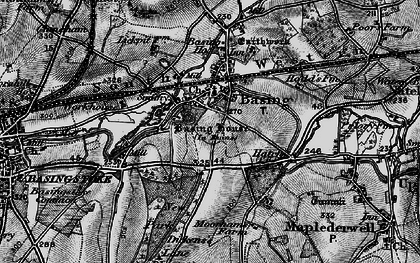 Old map of Old Basing in 1895