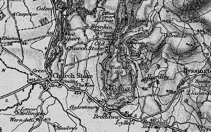 Old map of Todleth Hill in 1899