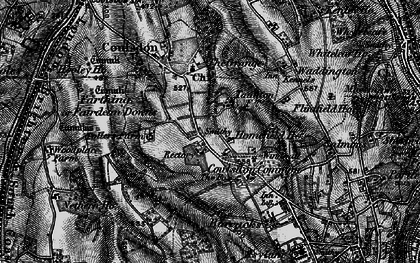Old map of Old Coulsdon in 1895