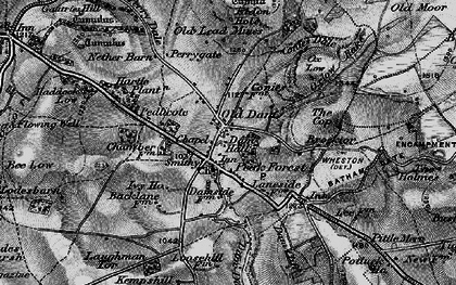 Old map of Old Dam in 1896
