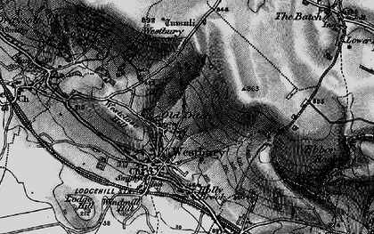 Old map of Westbury Beacon in 1898
