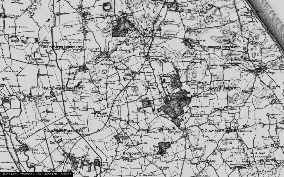 Old Map of Historic Map covering Wood Hall in 1897