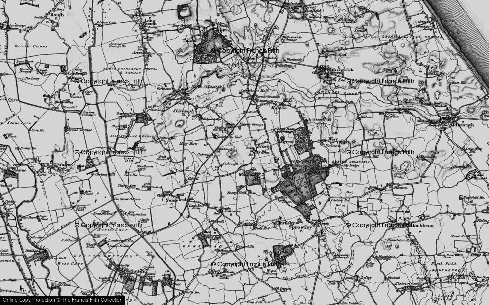 Old Map of Old Ellerby, 1897 in 1897
