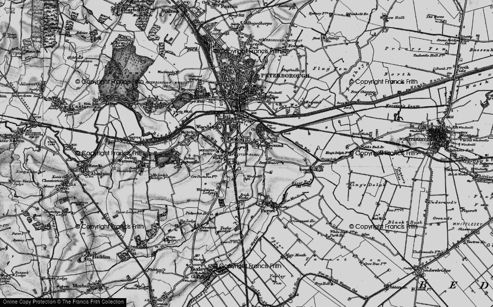 Old Map of Old Fletton, 1898 in 1898