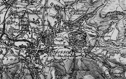 Old map of Yellow Slacks in 1896