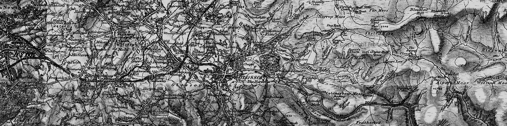 Old map of Yellowslacks Brook in 1896