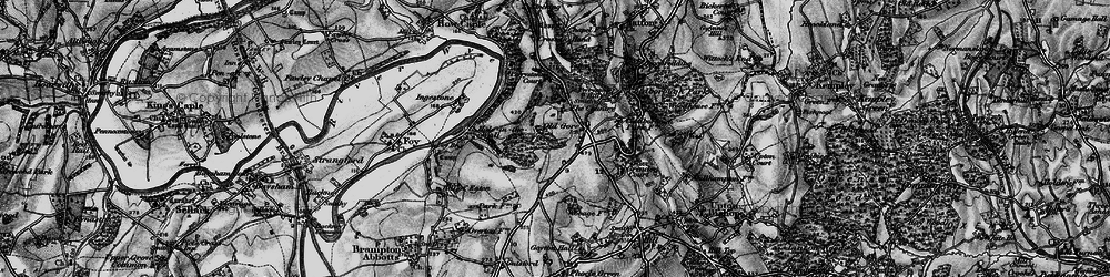 Old map of Yatton Wood in 1896
