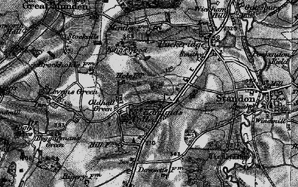 Old map of Old Hall Green in 1896