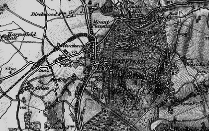 Old map of Old Hatfield in 1896