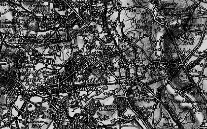 Old map of Old Hill in 1899