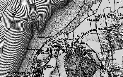 Old map of Old Hunstanton in 1898