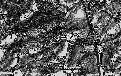 Old map of Old Knebworth in 1896