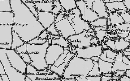 Old map of Leverton Ings in 1898