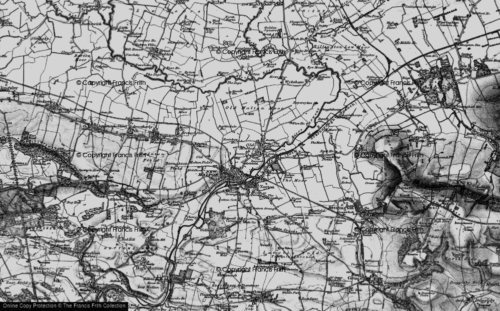 Old Map of Historic Map covering Abbey Ho, The in 1898