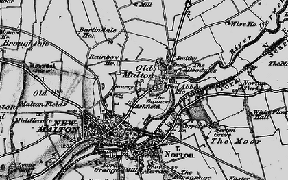 Old map of Abbey Ho, The in 1898