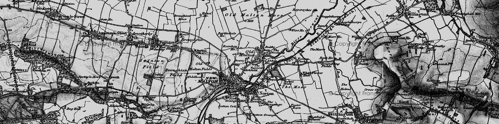 Old map of Old Malton in 1898
