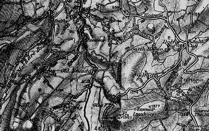 Old map of Banc Cefnperfedd in 1899