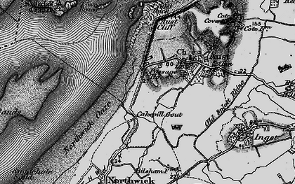 Old map of Aust Rock in 1897