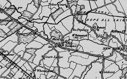 Old map of Wheelsgate in 1895