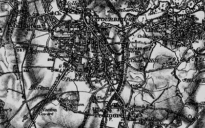 Old map of Old Swinford in 1899
