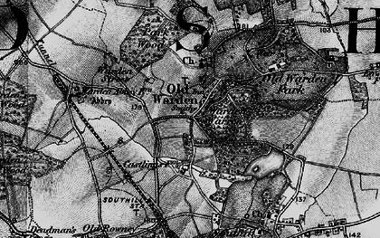 Old map of Old Warden in 1896
