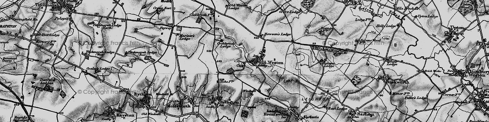 Old map of Old Weston in 1898