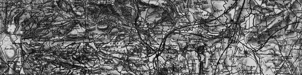 Old map of Old Whittington in 1896
