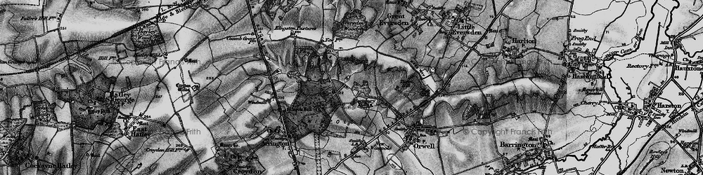 Old map of Wimpole Way in 1896