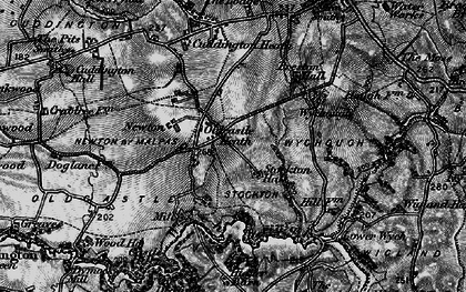 Old map of Wych Brook in 1897