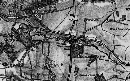 Old map of Whitewater Common in 1895