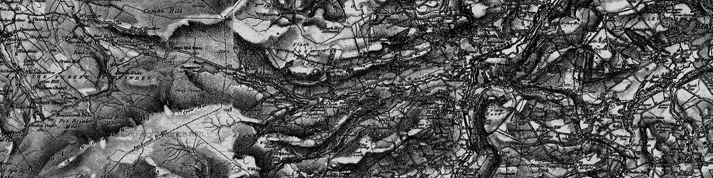 Old map of Withins Slack in 1898