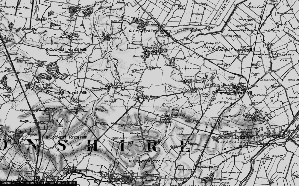 Old Map of Oldhurst, 1898 in 1898