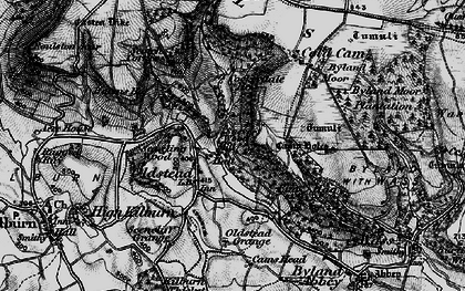 Old map of Sutton Bank in 1898
