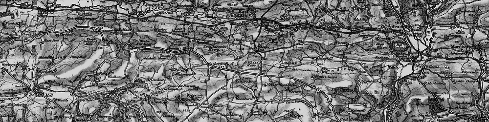 Old map of Allshire in 1898